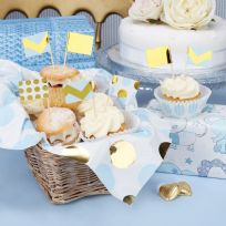 Pattern Works Blue Cupcake Picks (20)